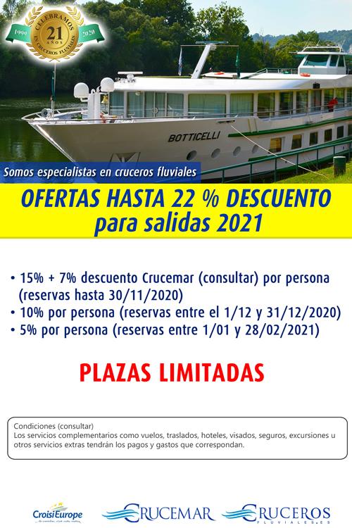 OFERTAS HASTA 15 % DESCUENTO para salidas 2021