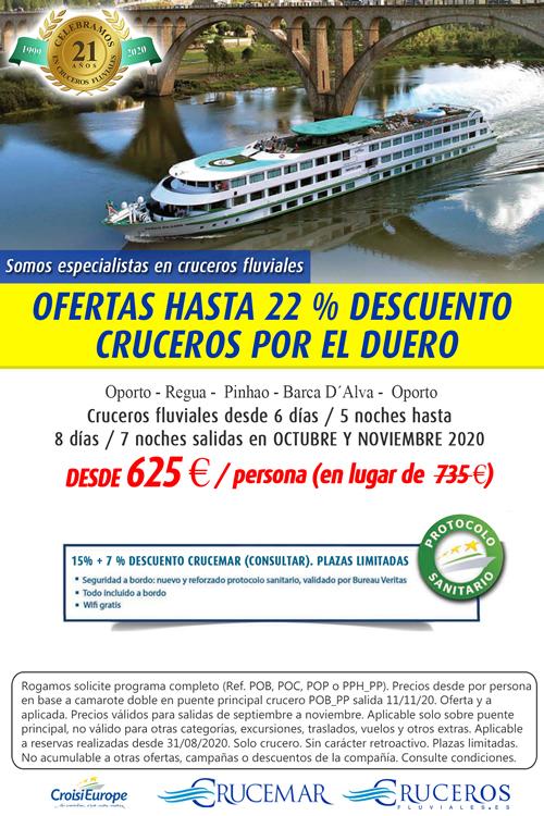 OFERTAS HASTA 15 % DESCUENTO para salidas OCTUBRE Y NOVIEMBRE