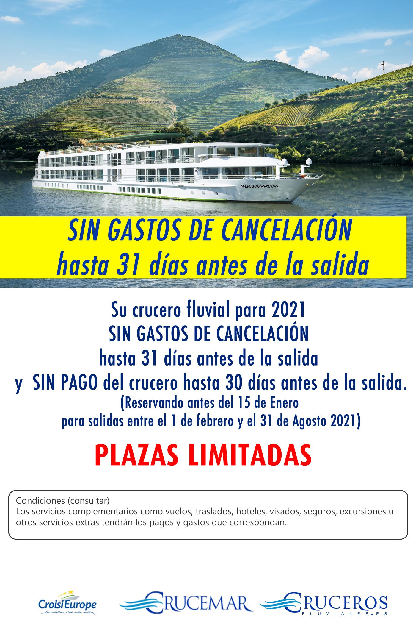 Crucero SIN GASTOS DE CANCELACIÓN Croisieurope