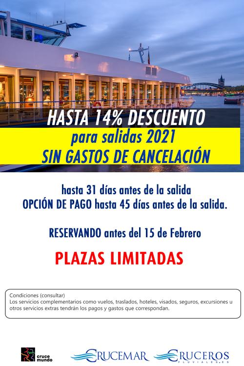Crucero SIN GASTOS DE CANCELACIÓN Crucemundo