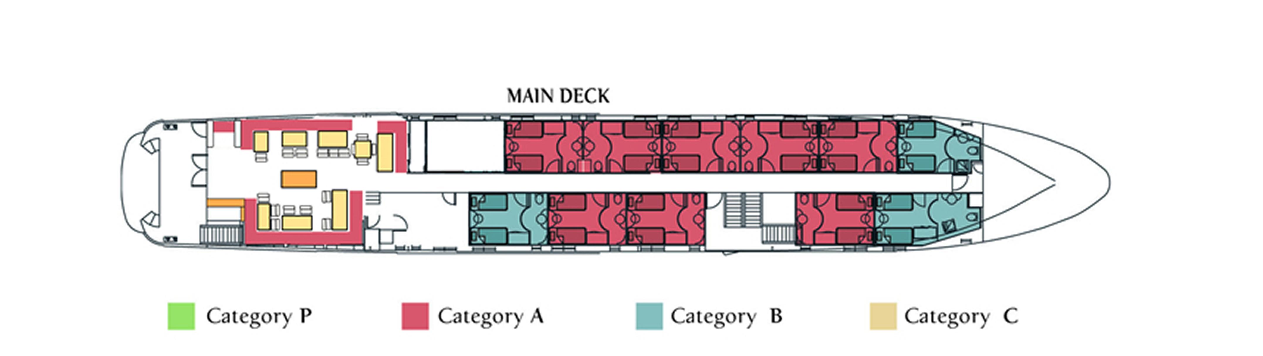 M/Y Harmony G, Main Deck