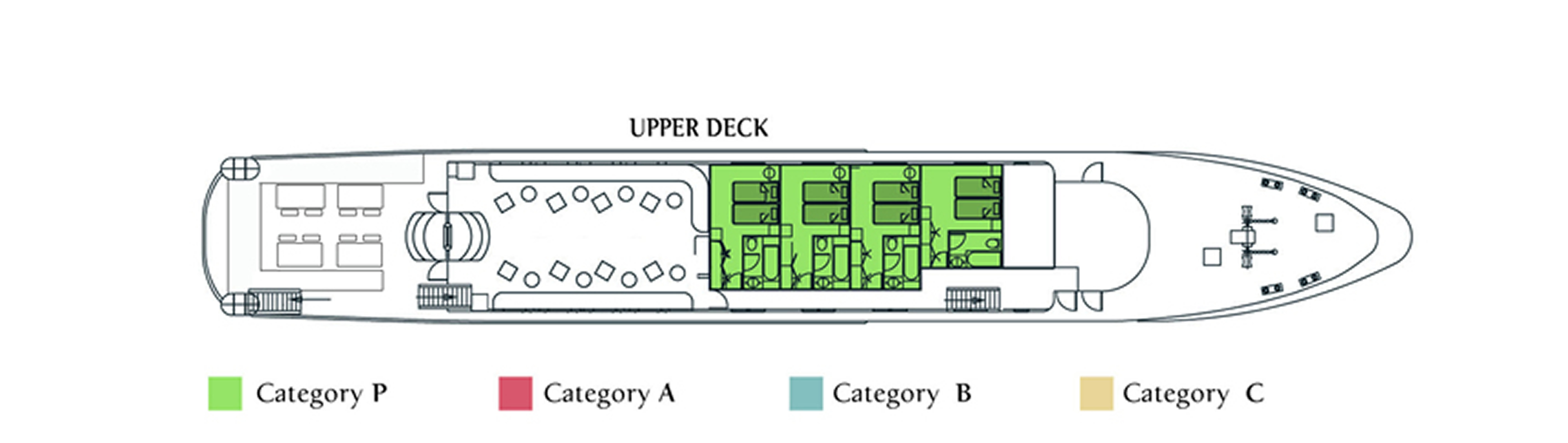 M/Y Harmony G, Upper Deck