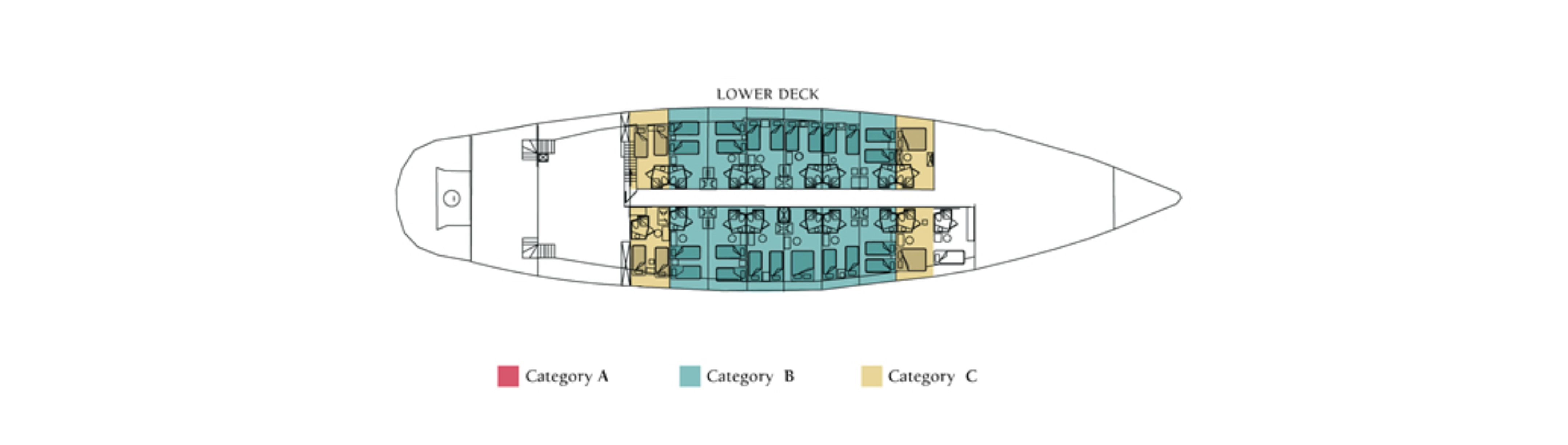 M/S Panorama, Lower Deck
