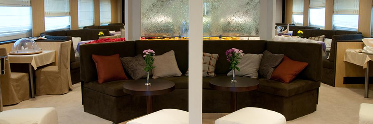 MY Harmony V, lounge area