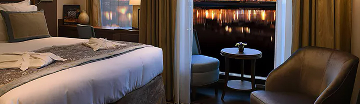 MS Douro Serenity, junior suite, Upper deck