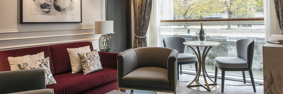 Crystal Debussy, Penthouse con balcón, ventana panorámica CP