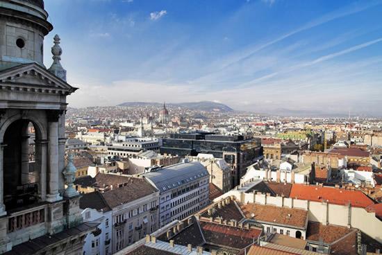 Budapest, vista desde la Basílica de San Esteban