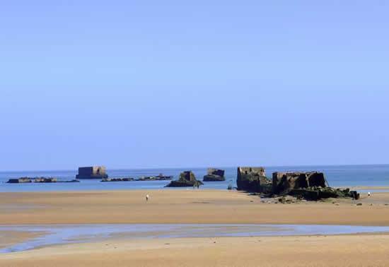 Playas del desembarco, Normandia