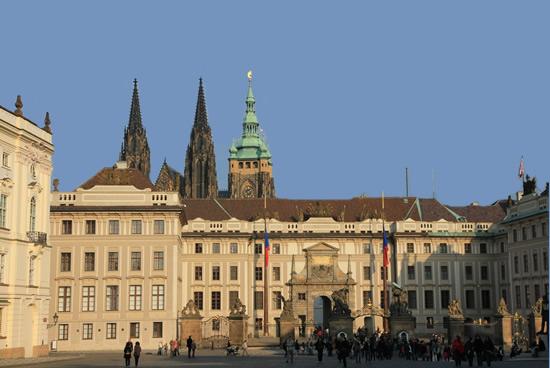 Edificios junto al castillo de Praga
