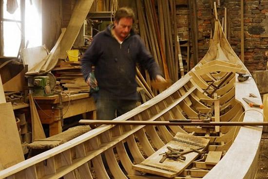 Construcción de gondolas, Venecia