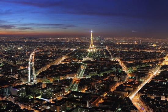París de noche, iluminado
