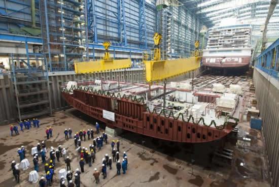 Astillero naval de Meyer Werft en Papenburgo