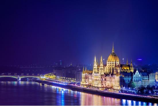 Budapest, iluminado