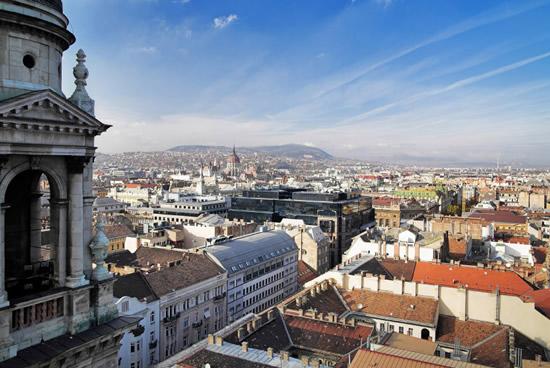 Budapest, Vista desde la Basilica de San Esteban