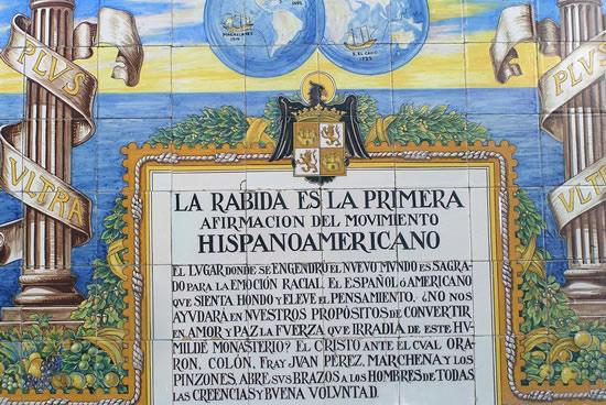 Monasterio de La Rábida, inscripción, Huelva