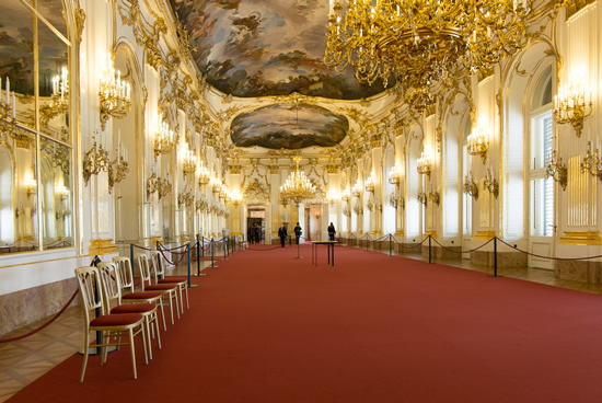 Palacio de Schonbrunn, Viena, interior