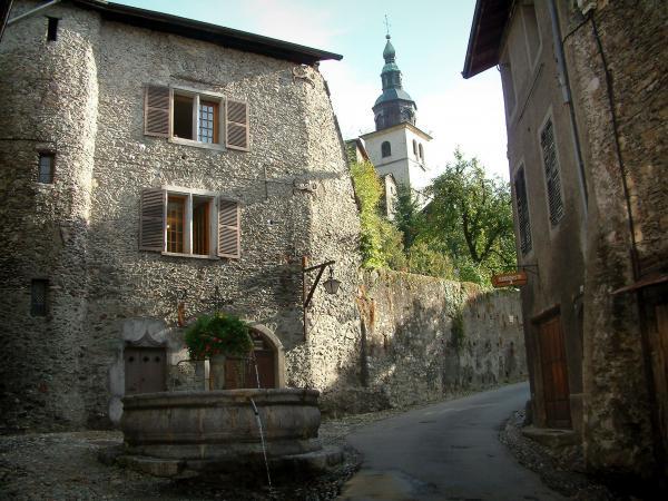 Ciudad medieval de Conflans, Francia