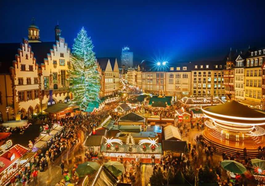Rüdesheim, Mercadillo de Navidad, Alemania, crucero por el Rin